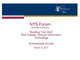 NYS Forum  Business Continuity