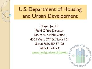 U.S. Department of Housing and Urban Development