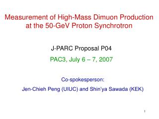 Measurement of High-Mass Dimuon Production at the 50-GeV Proton Synchrotron
