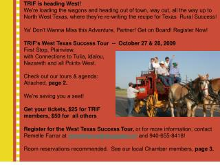 Join us for the TRIF West Texas Success Tour