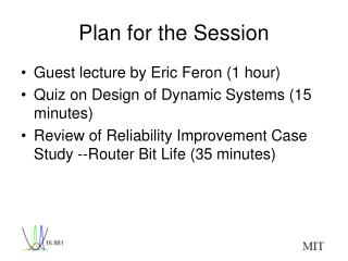 Plan for the Session