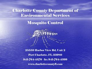 Charlotte County Department of Environmental Services Mosquito Control