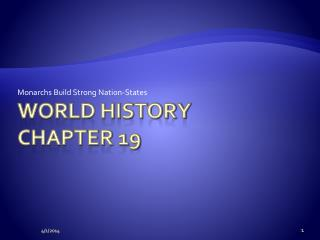 World History Chapter 19