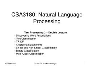 CSA3180: Natural Language Processing