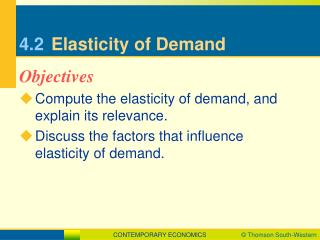 4.2	 Elasticity of Demand