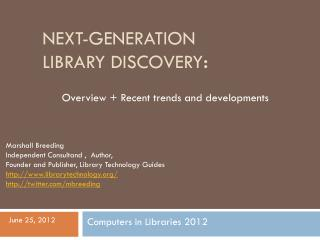 Next-generation Library Discovery :