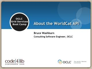 About the WorldCat API