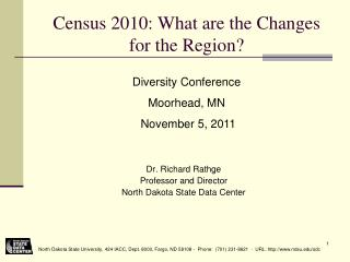 Census 2010: What are the Changes for the Region?