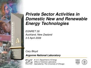 Private Sector Activities in Domestic New and Renewable Energy Technologies