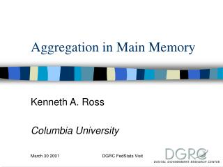 Aggregation in Main Memory
