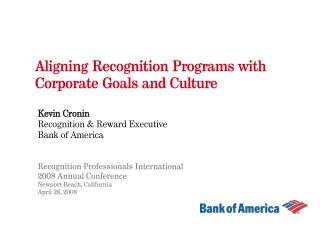 Aligning Recognition Programs with Corporate Goals and Culture