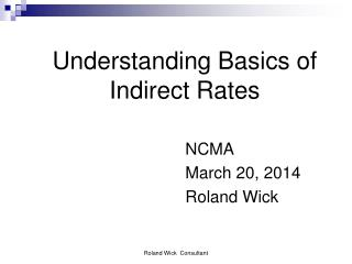 Understanding Basics of Indirect Rates