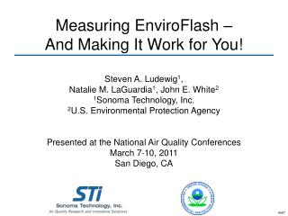 Measuring EnviroFlash –  And Making It Work for You!