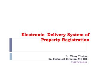 Electronic Delivery System of Property Registration