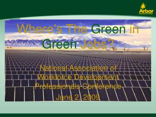 Where's The  Green  in  Green  Jobs?