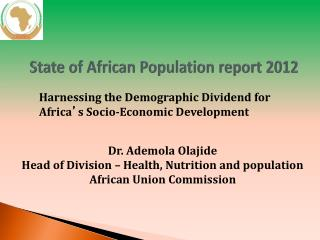 State of African Population report 2012