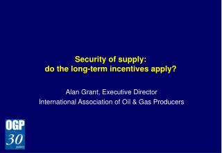 Security of supply: do the long-term incentives apply?