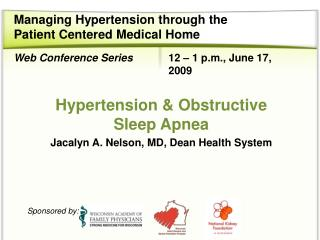 Managing Hypertension through the  Patient Centered Medical Home
