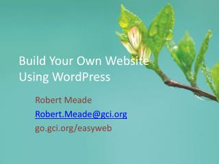 Build Your Own Website Using WordPress