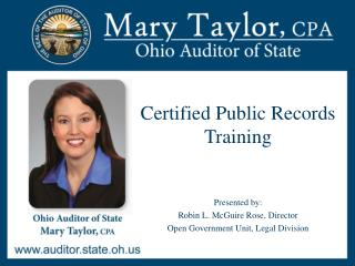 Certified Public Records Training
