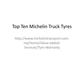 Top Ten Tyres For Trucks