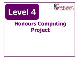 Honours Computing Project