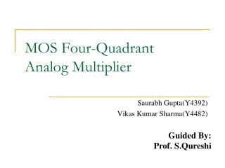 MOS Four-Quadrant  Analog Multiplier