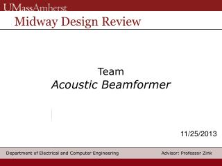 Team Acoustic Beamformer
