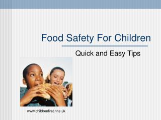 Food Safety For Children