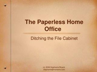 The Paperless Home Office
