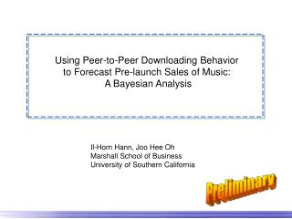 Using Peer-to-Peer Downloading Behavior  to Forecast Pre-launch Sales of Music: