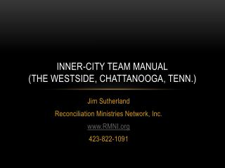 Inner-city team manual (the  westside ,  chattanooga , Tenn.)
