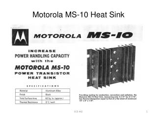 Motorola MS-10 Heat Sink