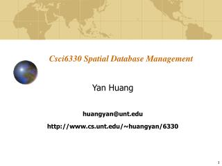 Csci6330 Spatial Database Management