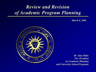 Review and Revision  of Academic Program Planning