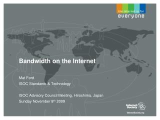 Bandwidth on the Internet