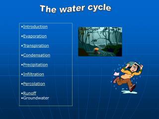 Introduction Evaporation Transpiration Condensation Precipitation Infiltration Percolation Runoff