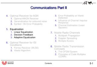 Communications Part II
