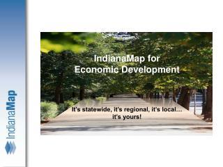 IndianaMap for Economic Development