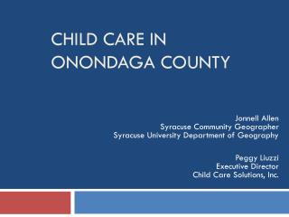 Child Care in Onondaga County