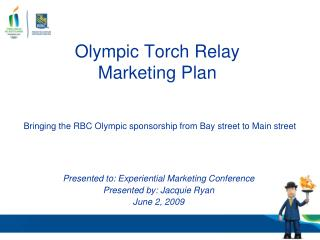 Olympic Torch Relay Marketing Plan