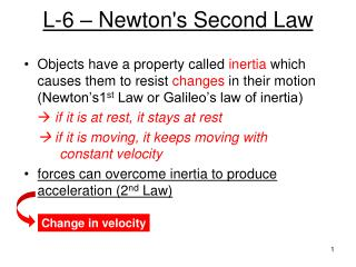L-6 – Newton's Second Law