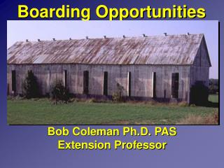 Boarding Opportunities