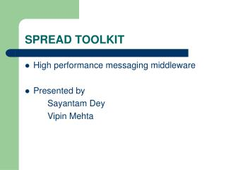 SPREAD TOOLKIT