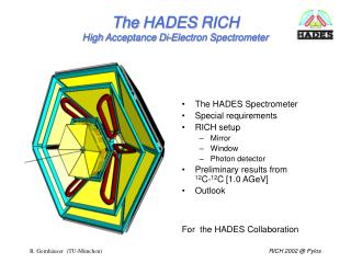 The  HADES  RICH  High  Acceptance  Di-Electron Spectrometer