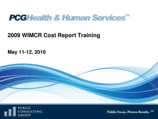 2009 WIMCR Cost Report Training