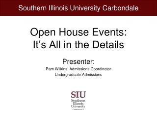 Open House Events: It's All in the Details