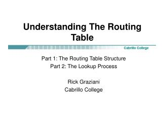 Understanding The Routing Table