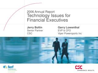 Jerry Boltin Senior Partner CSC