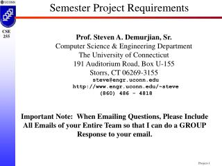 Semester Project Requirements